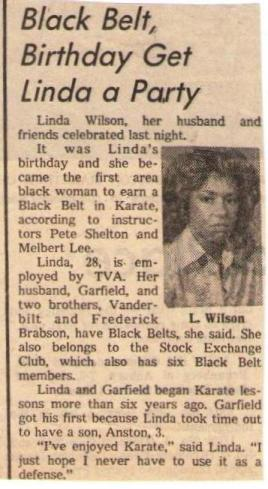 1977 News Sentinel Article - First African American Female in area